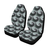 Car Seat Cover Black Green Wave  (Set of 2)