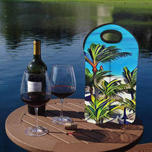 Load image into Gallery viewer, Palms 2   2-Bottle Neoprene Wine Bag
