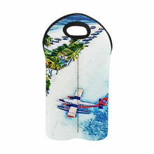 Load image into Gallery viewer, Seaplane Island 1   2-Bottle Neoprene Wine Bag
