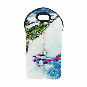 Seaplane Island 1   2-Bottle Neoprene Wine Bag