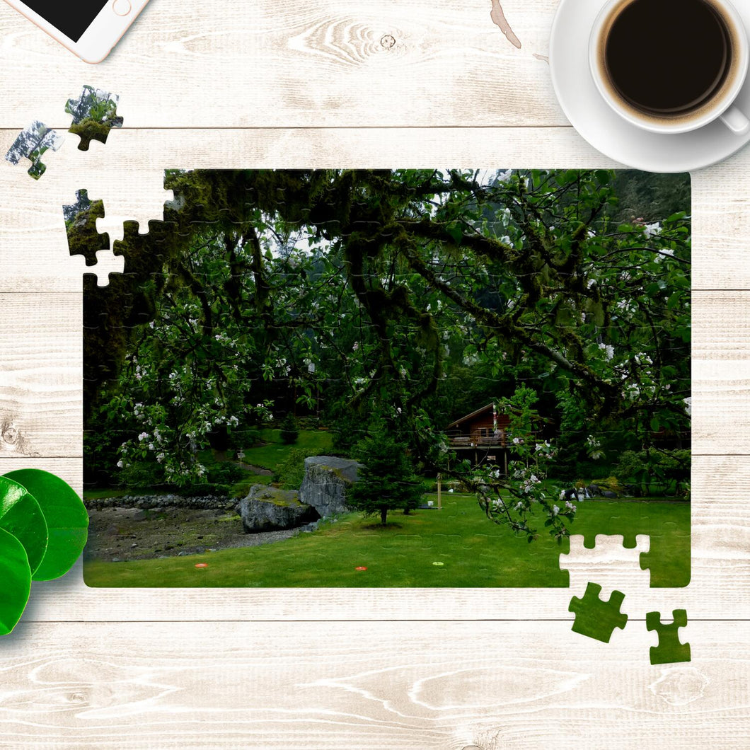 Springtime at the Cabin- A Beautiful Puzzle You Will Enjoy Piecing Together!