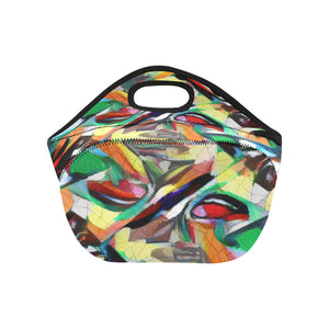 Neoprene Lunch Tote - Jungle Birds