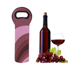 Load image into Gallery viewer, 1- Bottle Neoprene Wine Tote- Burgundy Wave
