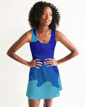 Load image into Gallery viewer, Racerback Dress in Painted Blue Waves