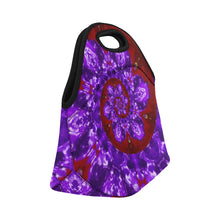 Load image into Gallery viewer, Neoprene Lunch Tote- Red Tentacle