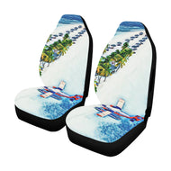Car Seat Cover Seaplane at Island 1 Car Seat Cover Airbag Compatible(Set of 2)