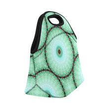 Load image into Gallery viewer, Neoprene Lunch Tote -Cucumber Mandala