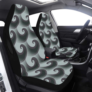 Car Seat Cover Airbag Compatible Black Green Wave Car Seat Cover Airbag Compatible(Set of 2)