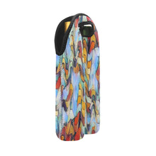 "Load image into Gallery viewer, 2-Bottle Neoprene Wine Tote - ""Expressionistic Landscape"""
