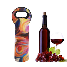 "Load image into Gallery viewer, 1- Bottle Neoprene Wine Tote- ""Jupiter Rising"""