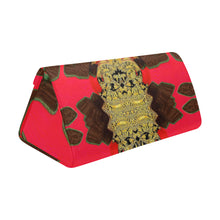 "Load image into Gallery viewer, Foldable Glasses Case - ""Red & Gold Tapestry"""