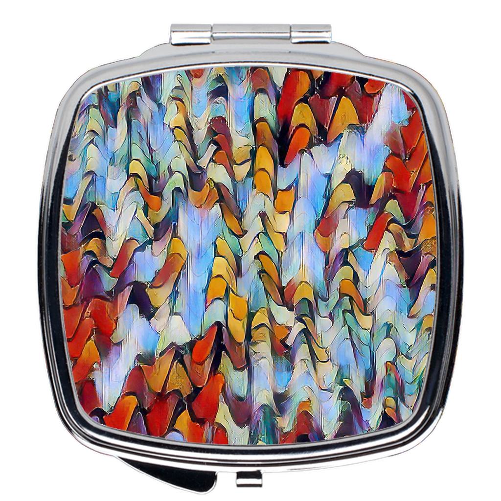 Compact Mirror- Expressionistic Landscape