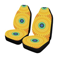 Car Seat Cover Yellow Orange Daisy  (Set of 2)