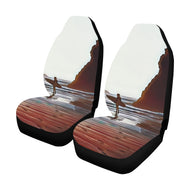Car Seat Cover- Surfer on Beach  (Set of 2)