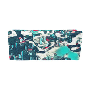 "Foldable Glasses Case - ""Teal Raindrops"""