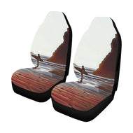 Car Seat Cover Airbag Compatible- Surfer w Sea Stack (Set of 2)
