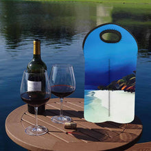 Load image into Gallery viewer, Beach in a Storm  2-Bottle Neoprene Wine Bag