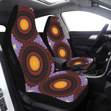 Load image into Gallery viewer, Car Seat Cover Red Yellow Purple Mandala Side Airbag Compatible Car Seat Cover Airbag Compatible(Set of 2)