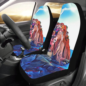 Car Seat Cover Italian Coastline (Set of 2)
