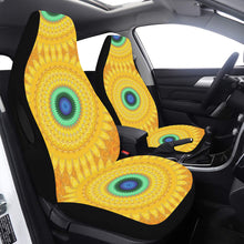 Load image into Gallery viewer, Car Seat Cover Airbag Compatible Carseat Cover Yellow Orange Daisy Car Seat Cover Airbag Compatible(Set of 2)