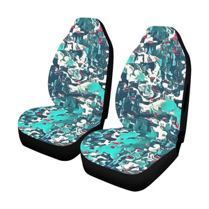 Car Seat Cover Teal Camo Side Airbag Car Seat Cover Airbag Compatible(Set of 2)