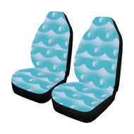 Car Seat Cover Light blue waves and swells  (Set of 2)