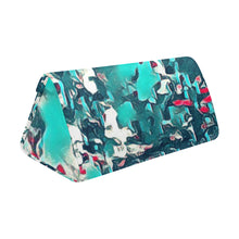 "Load image into Gallery viewer, Foldable Glasses Case - ""Teal Raindrops"""