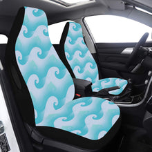 Load image into Gallery viewer, Car Seat Cover Airbag Compatible Aqua Green Waves Car Seat Cover Airbag Compatible(Set of 2)