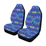 Blue Kaleidoscope Car Seat Covers (Set of 2)