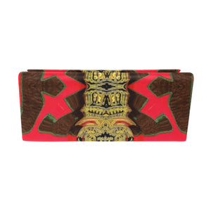 "Foldable Glasses Case - ""Red & Gold Tapestry"""