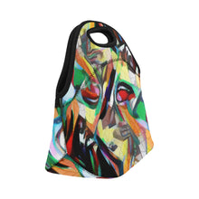 Load image into Gallery viewer, Neoprene Lunch Tote - Jungle Birds