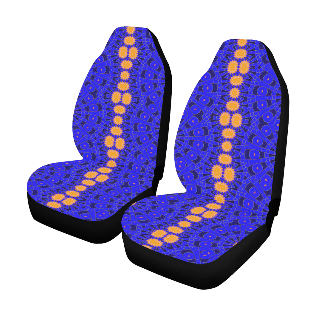 Car Seat Cover Orange Blue Sunburst Car Seat Covers (Set of 2)