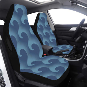 Car Seat Cover Airbag Compatible Large Blue Fishhook Car Seat Cover Airbag Compatible(Set of 2)