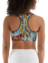"Load image into Gallery viewer, Sports Bra / Yoga Top - ""Expressionistic Landscape"""