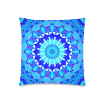 "Load image into Gallery viewer, Throw Pillow Cover 18"" x 18"" - Blue Mosaics 4"