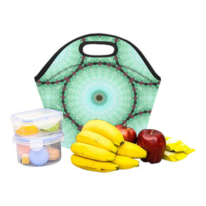 Neoprene Lunch Tote -Cucumber Mandala