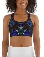 "Load image into Gallery viewer, Sports Bra / Yoga Top- ""Stained Glass 2"""
