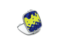 Load image into Gallery viewer, Compact Mirror- Zoombubble Blue & Yellow