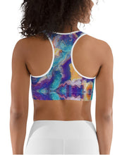"Load image into Gallery viewer, Sports Bra / Yoga Top- ""Meander"""
