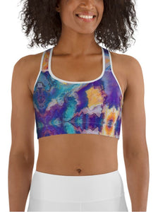 "Sports Bra / Yoga Top- ""Meander"""