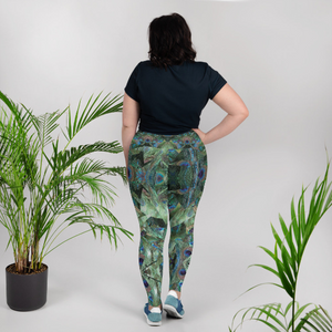 Peacock Pandemonium Plus Size Leggings