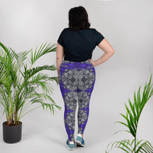 Load image into Gallery viewer, Purple Gothic Cross Plus Size Leggings