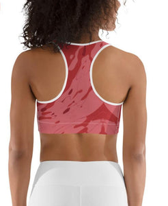 "Sports Bra / Yoga Top- ""Pomegranate"""