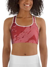 "Load image into Gallery viewer, Sports Bra / Yoga Top- ""Pomegranate"""