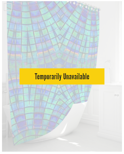 Shower Curtain- Teal Purple Kaleidoscope, 72 x 72
