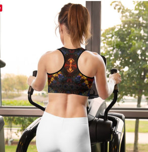 Sports bra / Yoga top- Stained Glass 1