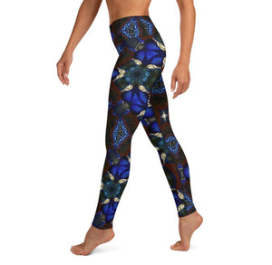 "Women's High Waisted Pattern Leggings Full-Length Yoga Pants - in ""Stained Glass 2"""
