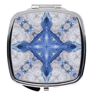 Compact Mirror- Kyanite Cross