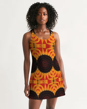Load image into Gallery viewer, Racerback Dress - Orange Red Black Mandala
