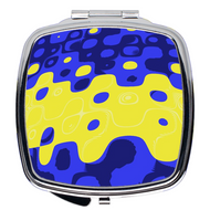 Compact Mirror- Zoombubble Blue & Yellow